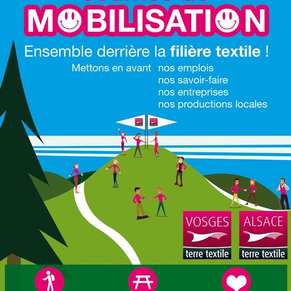 Journée de mobilisation le samedi 3 octobre – ensemble derrière la filière textile!